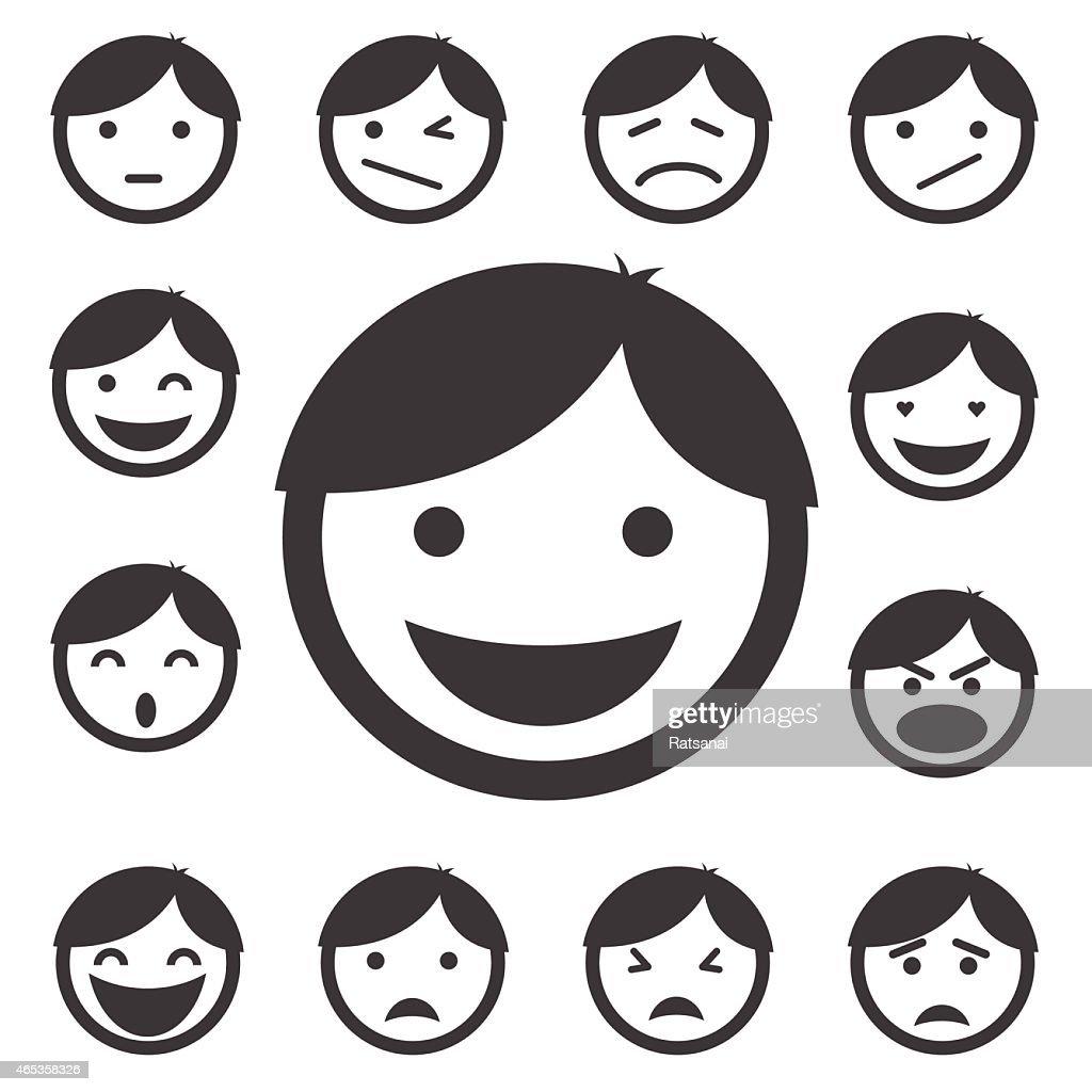 faces icon set