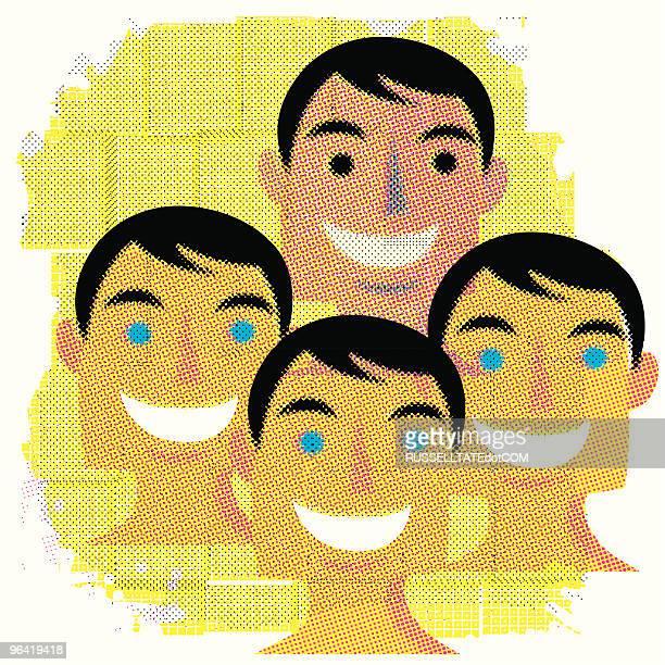 Gesichter in der Masse