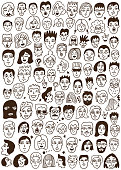 faces of people doodles