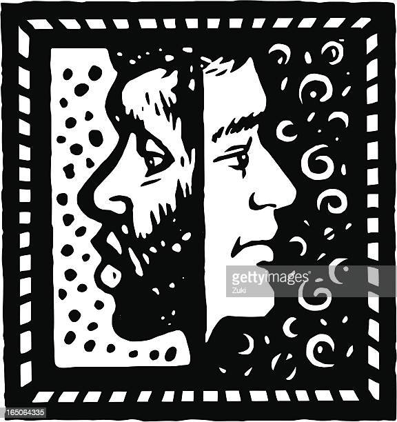 illustrations, cliparts, dessins animés et icônes de des visages - racisme