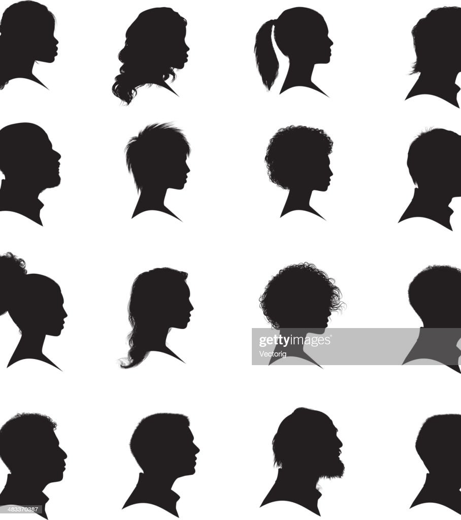 Faces : stock illustration
