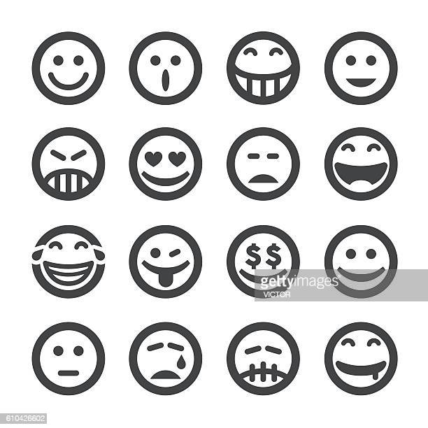 facial expression icons - acme series - verwirrung stock-grafiken, -clipart, -cartoons und -symbole