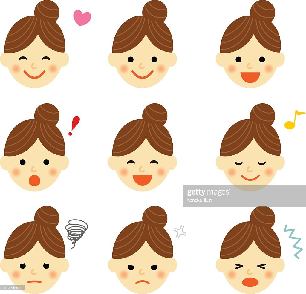 Facial expressions of woman