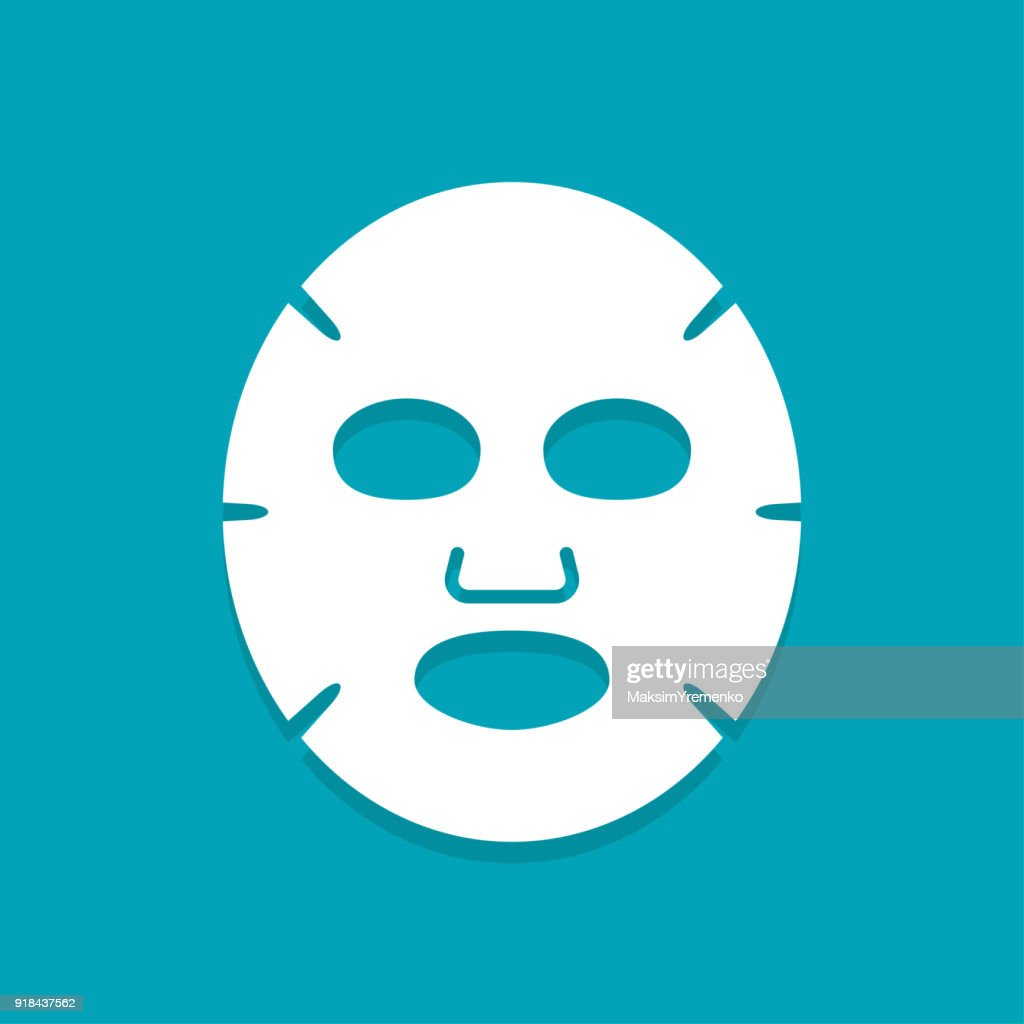 Facial mask flat icon