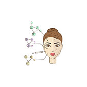 facial remediation colored icon. Element of beauty and anti aging icon for mobile concept and web apps. Color facial remediation icon can be used for web and mobile