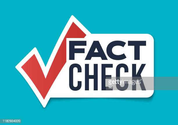 fact check - check mark stock illustrations