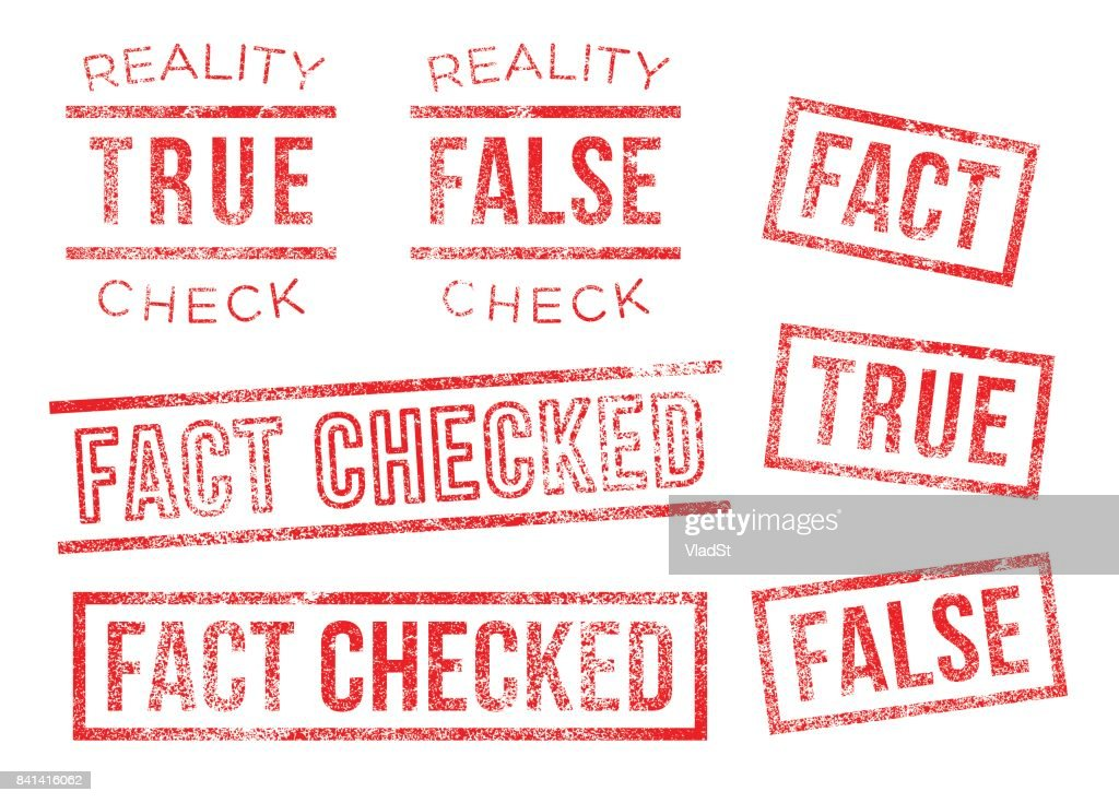 Fact reality check true false Rubber Stamps : stock illustration