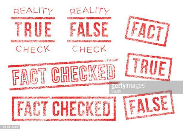 Fact reality check true false Rubber Stamps