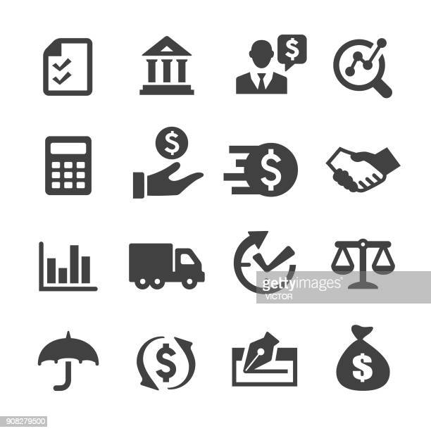 factoring company icons - acme series - loan stock illustrations