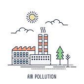 Factory Air Pollution Symbol