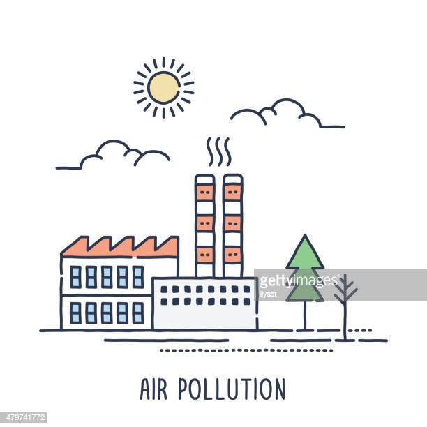 Factory Air Pollution Symbol