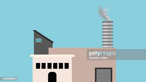Factory building vector