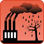 Factory generating toxic air pollution and Acid Rain