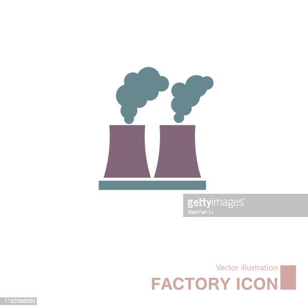 factory icon design. - smoke physical structure stock illustrations