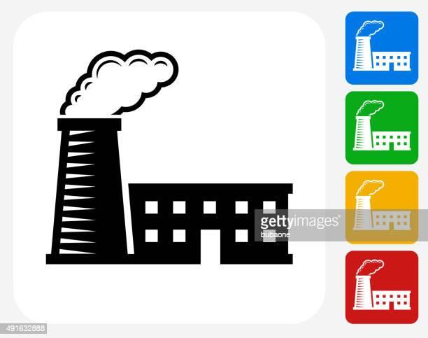 Factory-Symbol flache Grafik Design