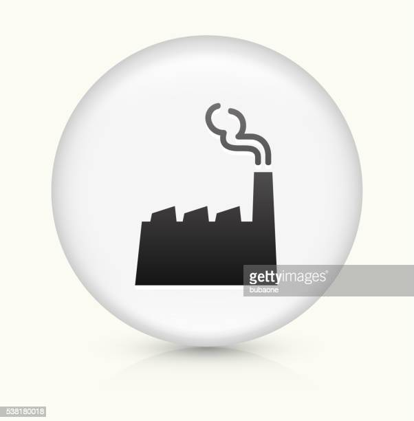 Factory icon on white round vector button
