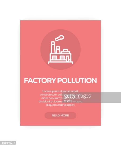 Factory Pollution Concept