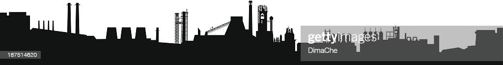 Factory silhouette