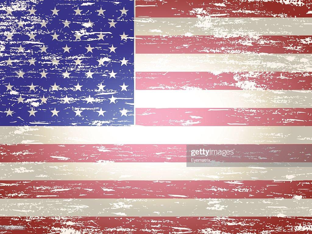 Faded American Flag