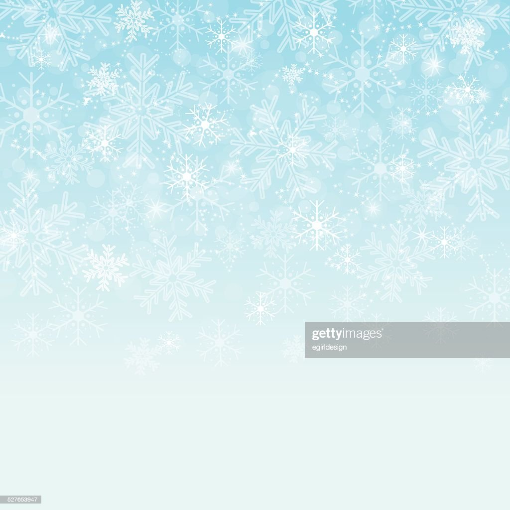 Faded blue snowflake background