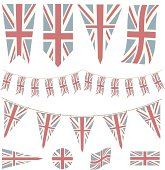 Faded British Flags and Pennants