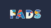 Fads Concept Word Art Illustration