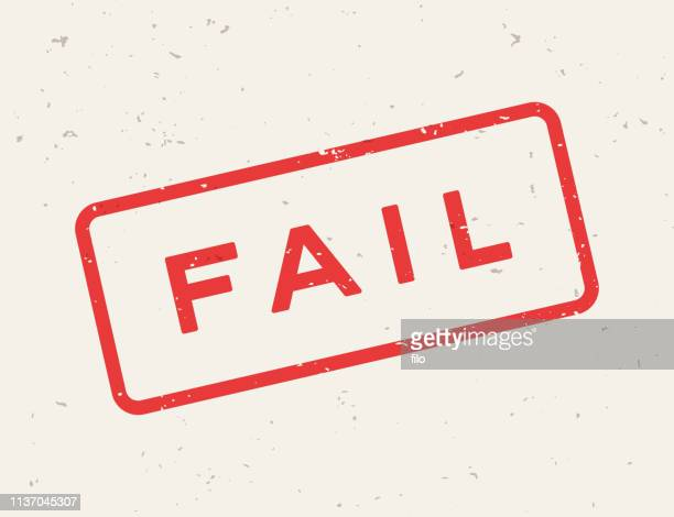 fail stamp - deterioration stock illustrations, clip art, cartoons, & icons