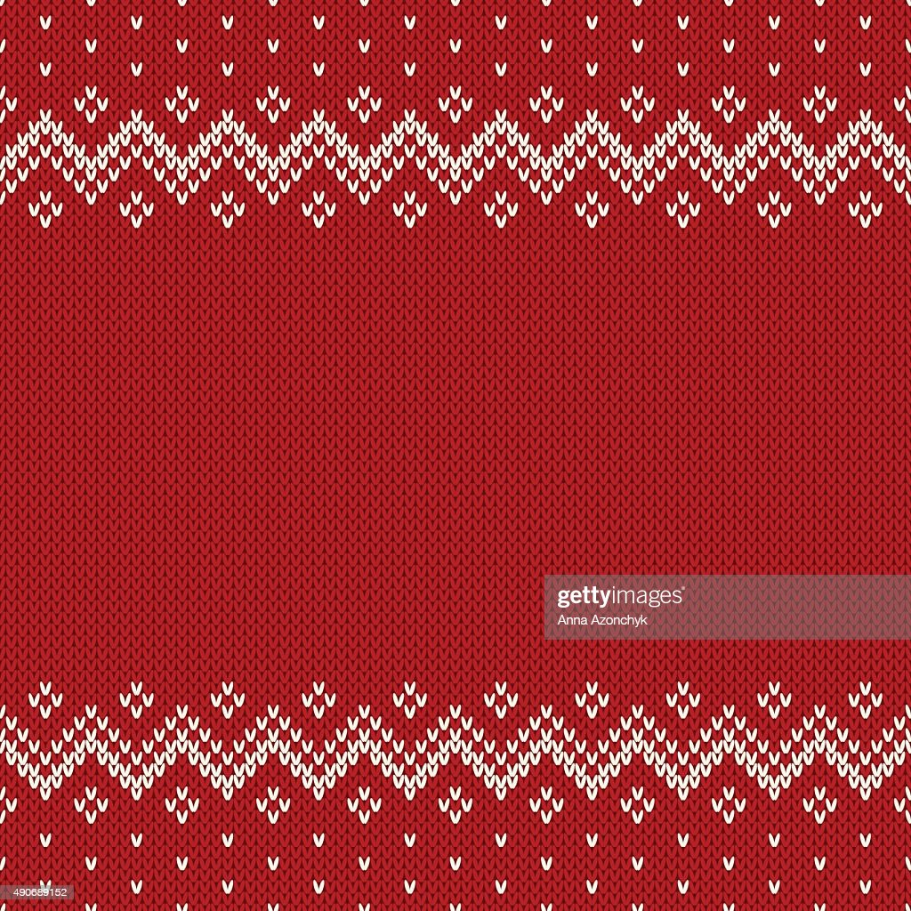 Fair Isle Style Seamless Knitted Pattern. Christmas Background w