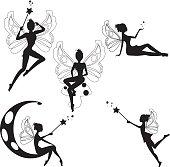 Fairies silhouettes