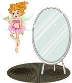 fairy beside a mirror