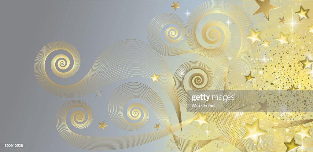 Fairy blue and gold banner