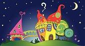 fairy little magic play houses mushrooms