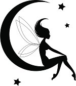 Fairy Moon Silhouette