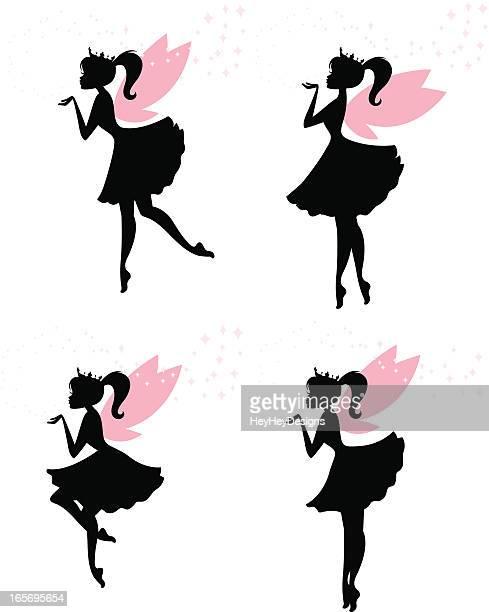 fairy princesses - fairy stock illustrations