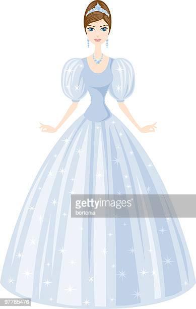 fairy tale princess - princess stock illustrations, clip art, cartoons, & icons