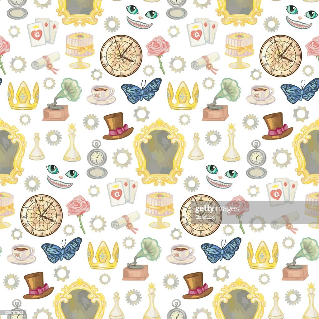 Fairy Tale Seamless Pattern