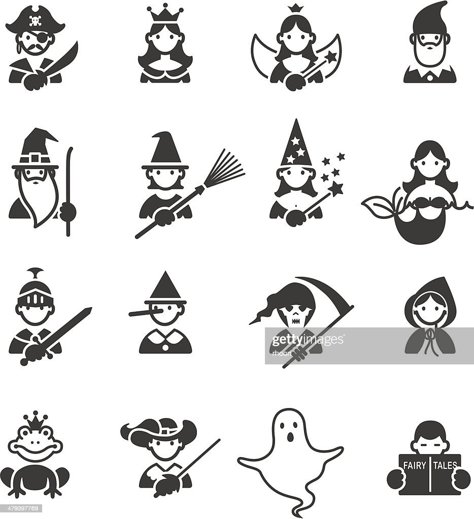 Fairy Tales icons : stock illustration