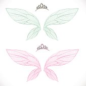 Fairy wings with tiara bundled