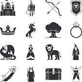 Fairytale and fantasy icons