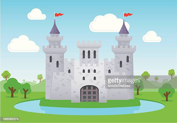 fairytale castle - castle stock illustrations