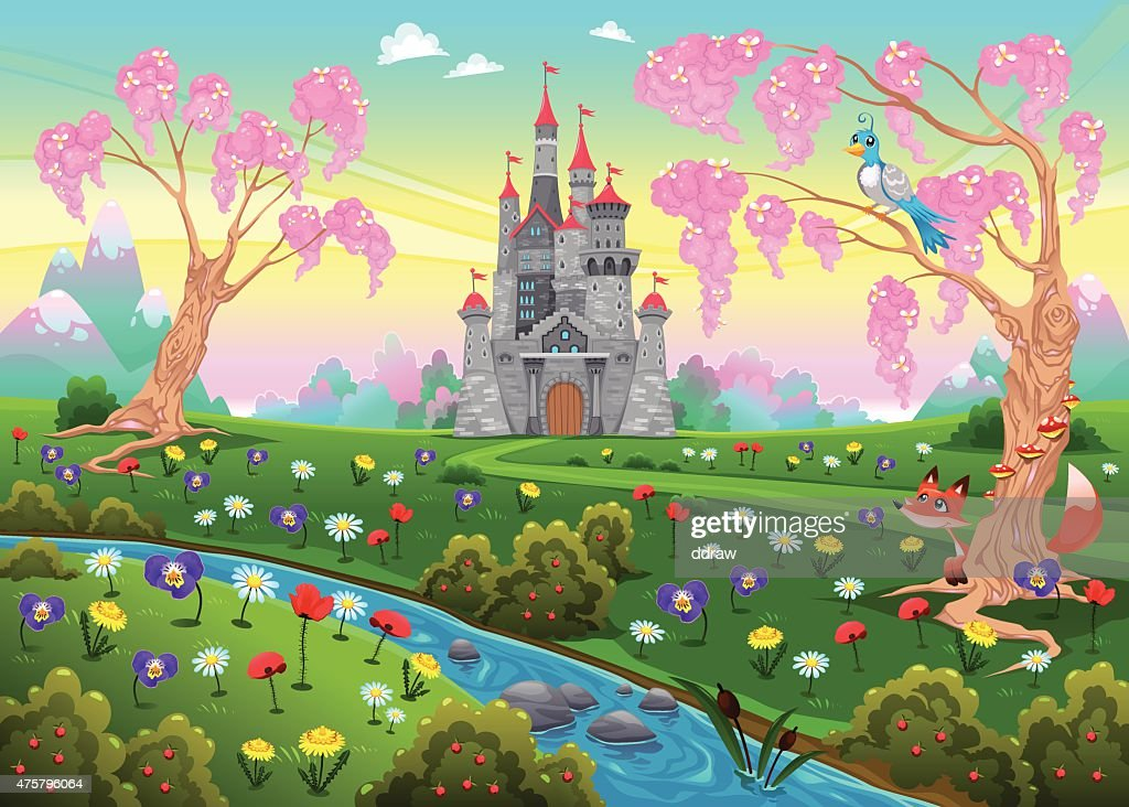 Fairytale scenery with castle