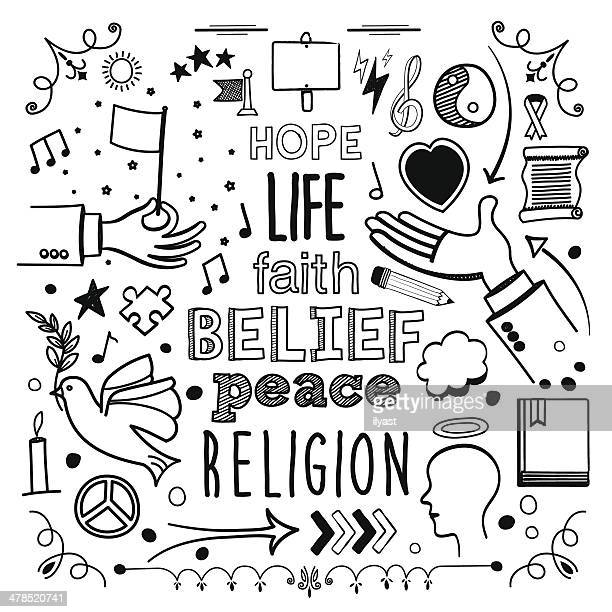faith - peace stock illustrations, clip art, cartoons, & icons