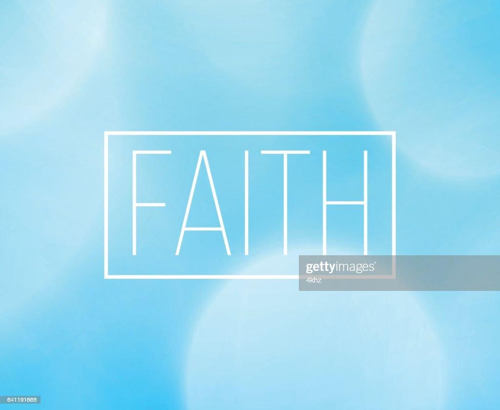 Glaubens Wort Rahmen Mit Bokeh Licht Hintergrund Vektorgrafik ...