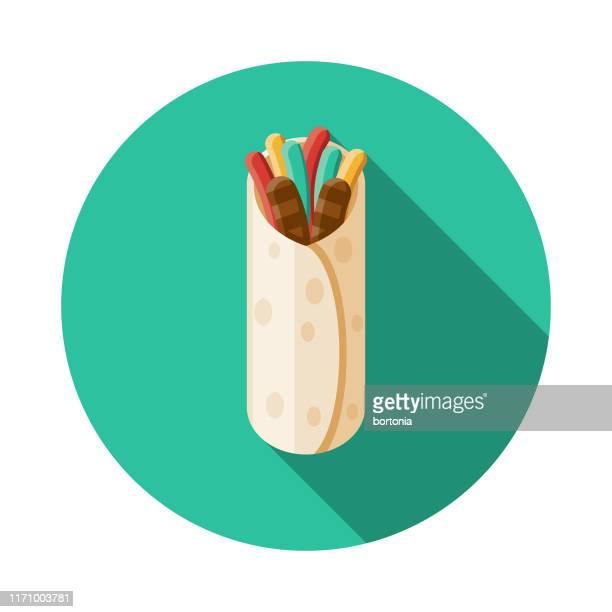 ilustrações, clipart, desenhos animados e ícones de ícone mexicano do alimento de fajita - fajita
