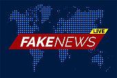 Fake news live illustration vector