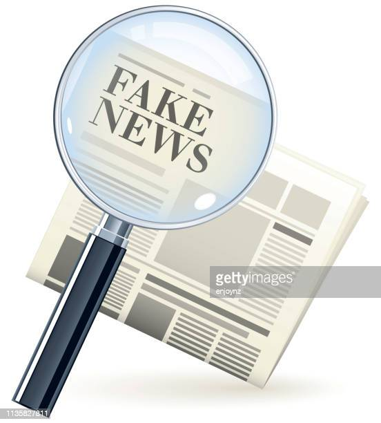 fake news newspaper - fake news stock illustrations