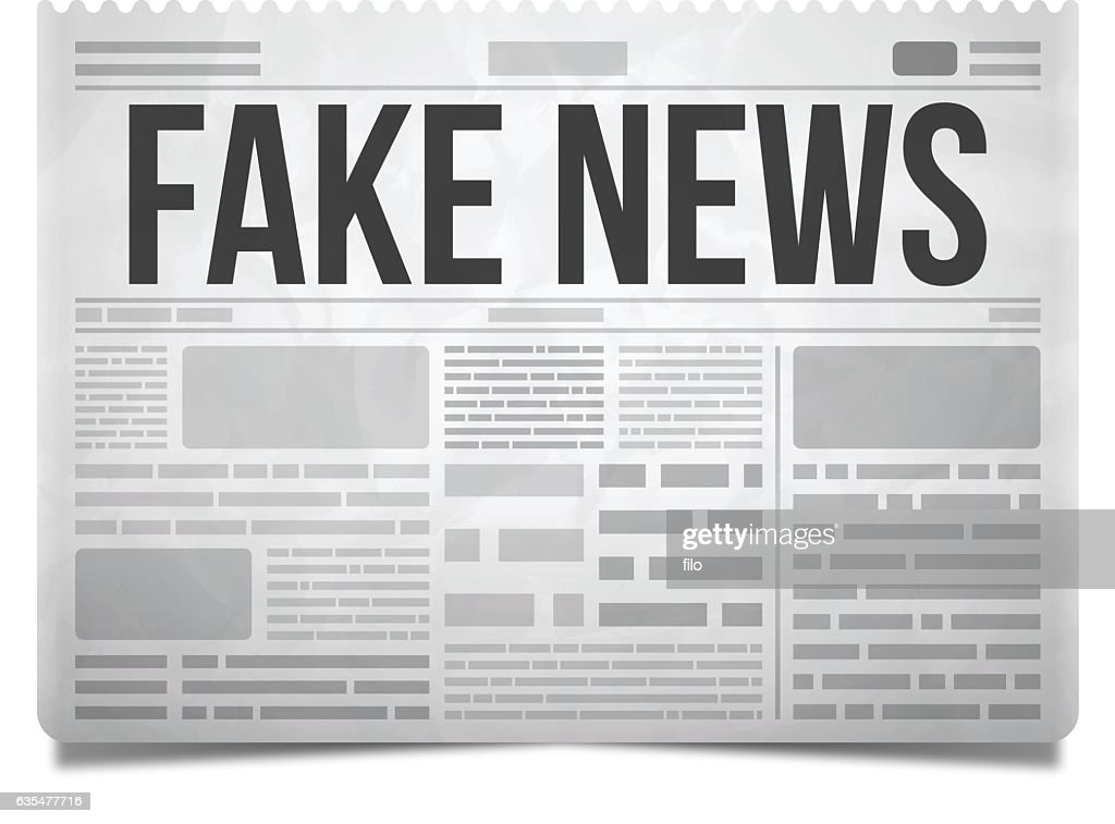Fake News Newspaper : Vector Art