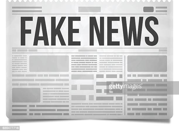 illustrations, cliparts, dessins animés et icônes de fake news newspaper - imitation