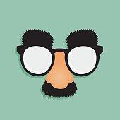 Fake Nose Mustache Glasses