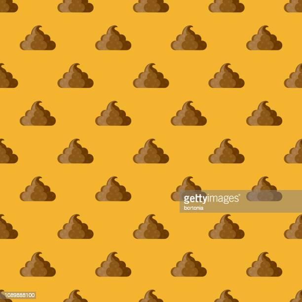 illustrazioni stock, clip art, cartoni animati e icone di tendenza di fake poop april fools' day seamless pattern - cacca